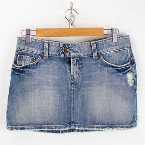 BKE Acid Wash Distressed Culture Denim Skirt